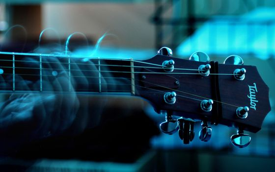Заставки гитара, струны, рука, музыка