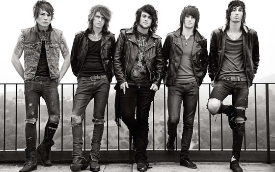 Photo free rock band, asking alexandria, black and white