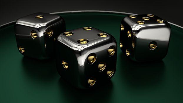 Черные игральные кости