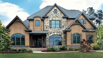 Бесплатные фото дом,окна,лужайка,трава,кусты,крыша,город