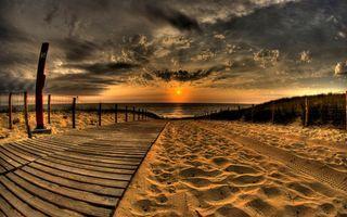 Фото бесплатно пейзажи, песок, закат