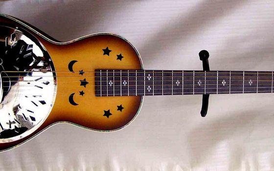 Фото бесплатно гитара, дека, струны