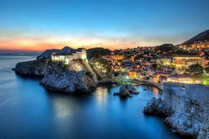 Фото бесплатно хорватия, море, вечер