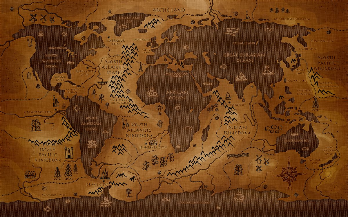 Free photo map, world, planet - to desktop