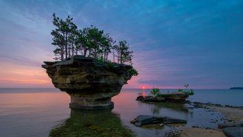 Бесплатные фото море, вода, остров, деревья, небо, облака, берег