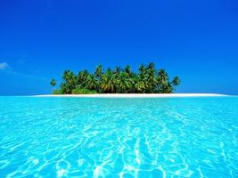 Бесплатные фото море, вода, прозрачная, остров, пальмы, небо, природа