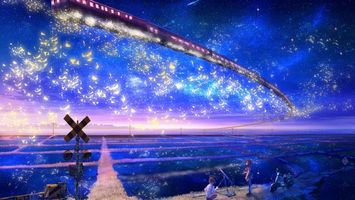 Бесплатные фото небо,люди,звезды,телескоп,ночь,поезд,полет