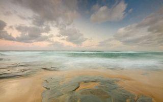 Заставки небо, облака, тучи, горизонт, песок, море, океан