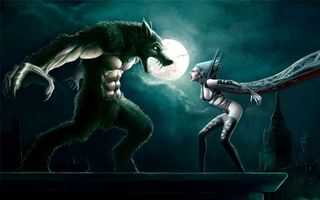 Photo free werewolf, vampire, confrontation