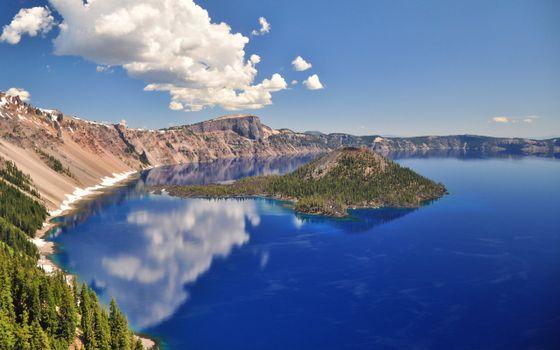 Фото бесплатно озеро, старый, кратер