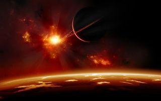 Заставки планеты, звезда, туманность