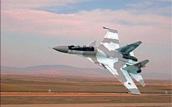 Фото бесплатно су-34, полигон, истребитель
