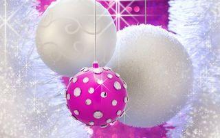 Бесплатные фото шарики, украшение, звезды, свет, стразы, блестки, мишура