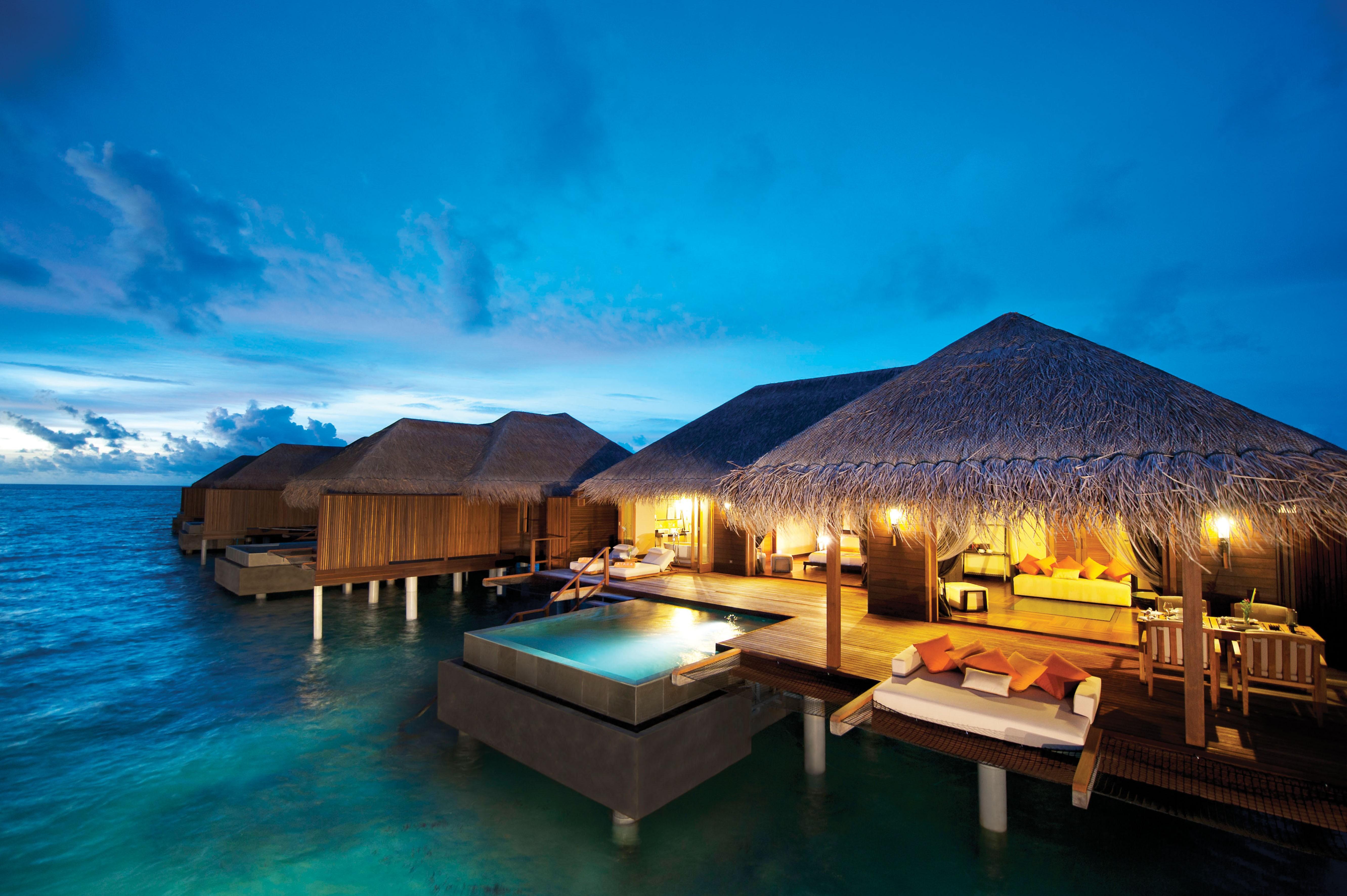 Мальдивы номера отеля отдых The Maldives the rooms the rest  № 333939 загрузить