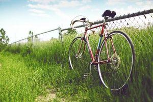 Заставки велосипед, спортивный, забор, железный, трава, природа, спорт