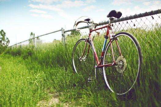 Фото бесплатно велосипед, спортивный, забор