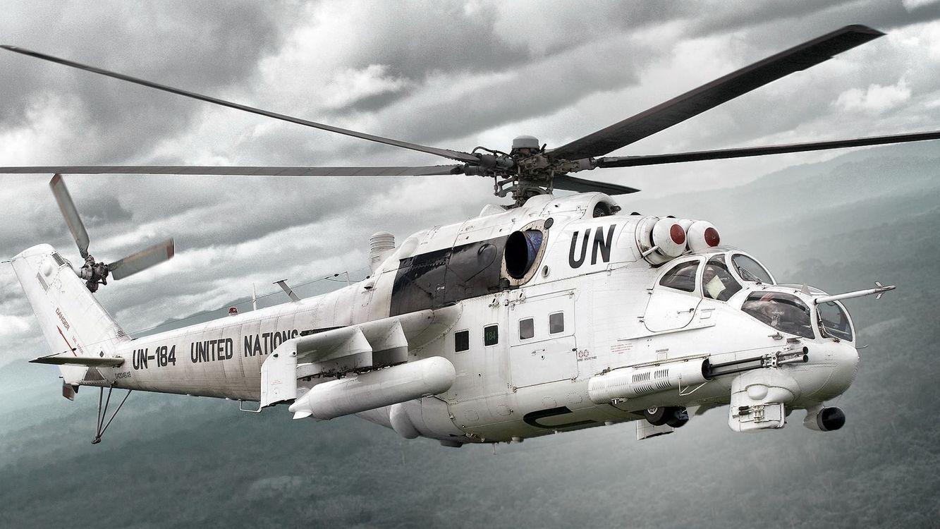 Фото бесплатно вертолет, военный, небо, облака, лопасти, черные, авиация - на рабочий стол