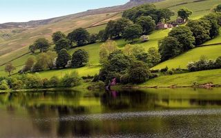 Бесплатные фото вода,река,озеро,деревья,горы,трава,небо