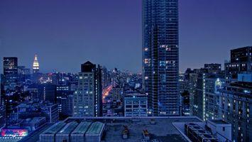Бесплатные фото здания, дома, высокие, вечер, окна, свет, город