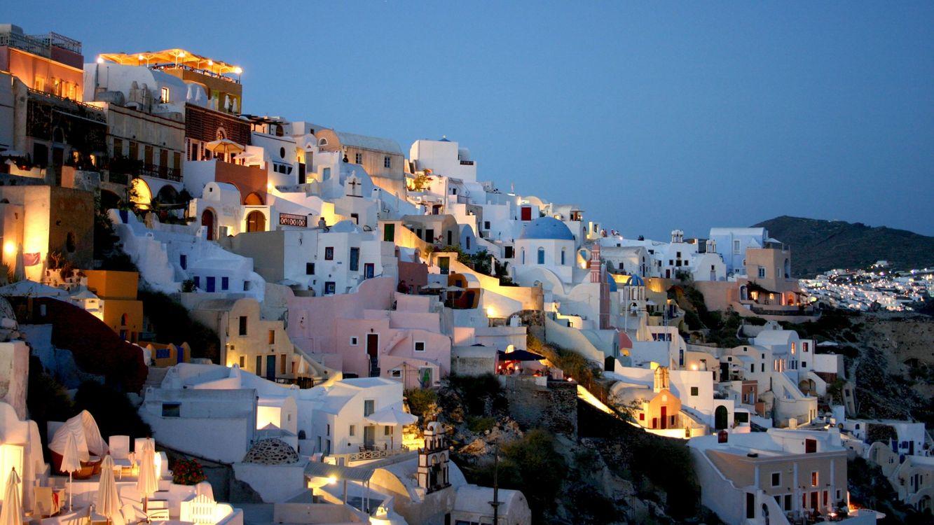 Фото бесплатно здания, небольшие, много, холмы, горы, день, красиво, белые, город, город
