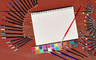 Фото бесплатно карандаши, мелки, цвета