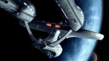 Фото бесплатно новые миры, космический корабль, планеты