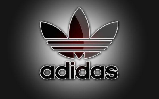 Заставки adidas, логотип, серый