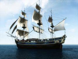 Бесплатные фото судно,паруса,парусник,вид с боку,океан,разное