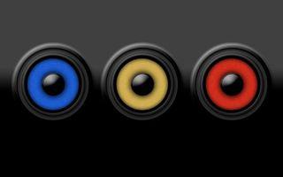 Фото бесплатно динамики, разноцветные, 3d графика
