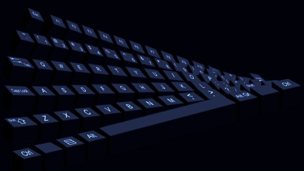 Заставки клавиатура, черная, кнопки