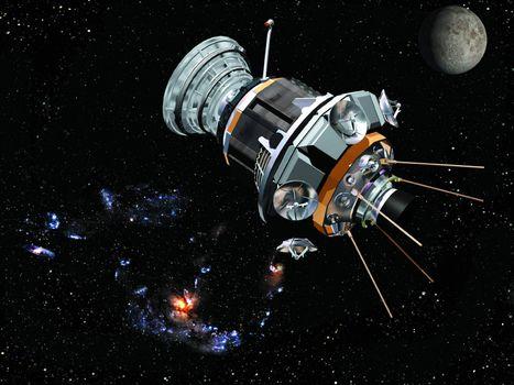 Фото бесплатно космический, спутник, телескоп