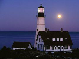 Бесплатные фото море,вода,небо,луна,дом,маяк,природа
