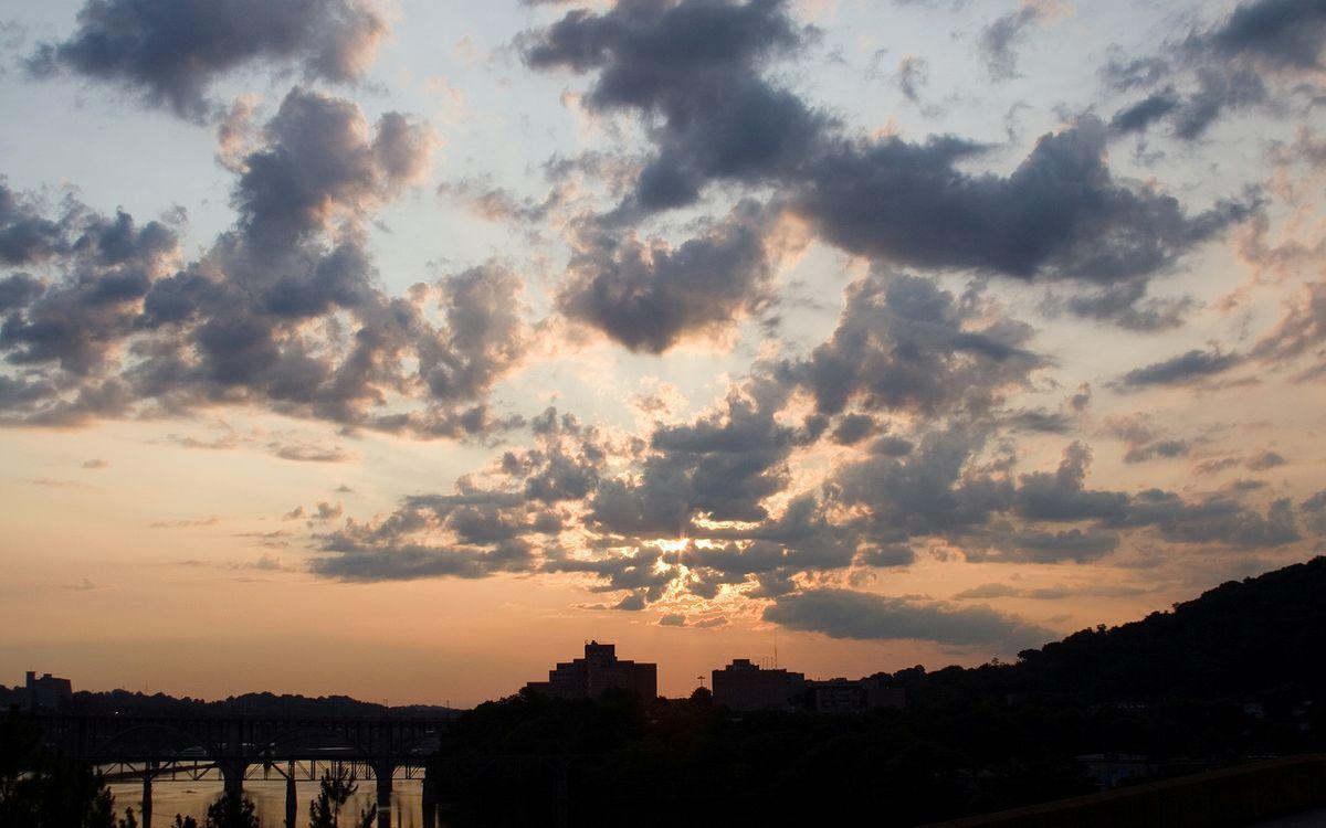 Фото бесплатно небо, облака, закат, рассвет, лучи, мост, дорога, море, океан, озеро, улица, пейзажи, пейзажи