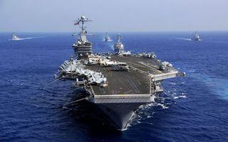 Бесплатные фото океан,корабли,авианосец,самолеты,армия,вода,ситуации