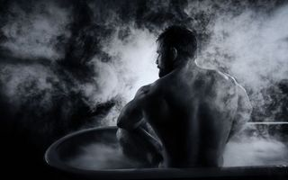 Photo free guy, bath, steam