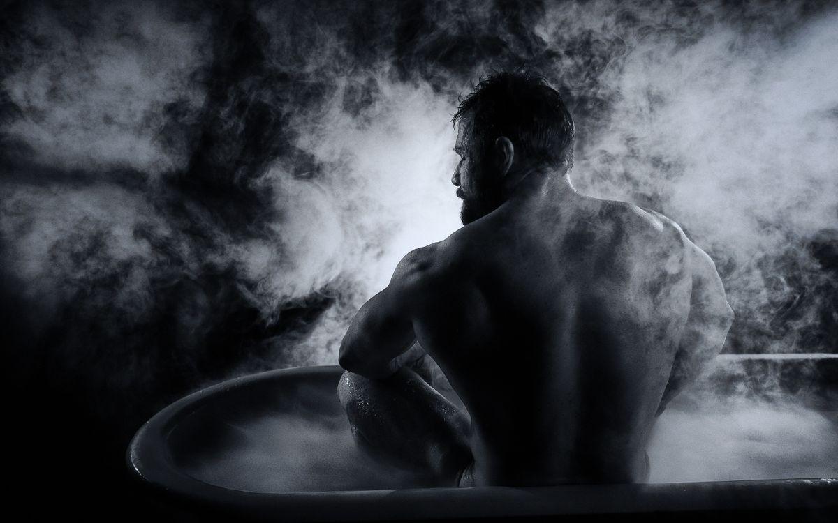 Фото бесплатно обратно, мужчины, ванна - на рабочий стол