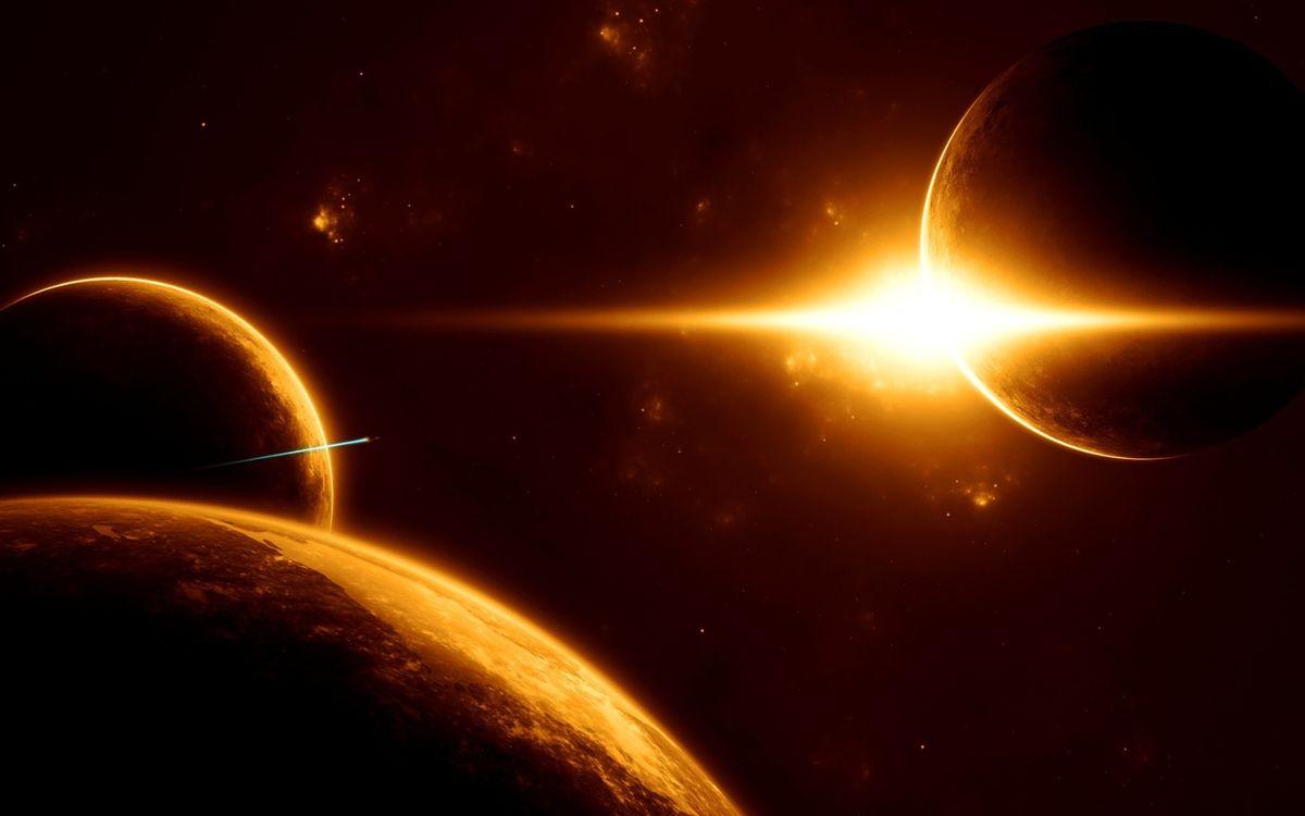 Фото бесплатно планеты, солнце, звезда, космический, корабль, полет, космос, неизвестные, миры, фантастика, фантастика