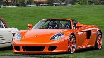 Photo free Porsche, convertible, orange