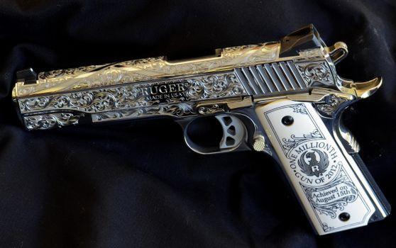 Бесплатные фото ruger,пистолет,гравировка,оружие