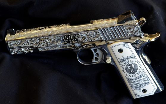 Photo free ruger, pistol, engraving