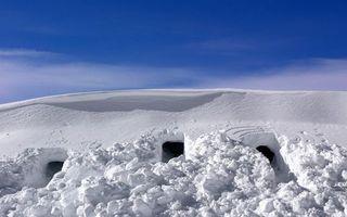 Фото бесплатно снег, толща, норы