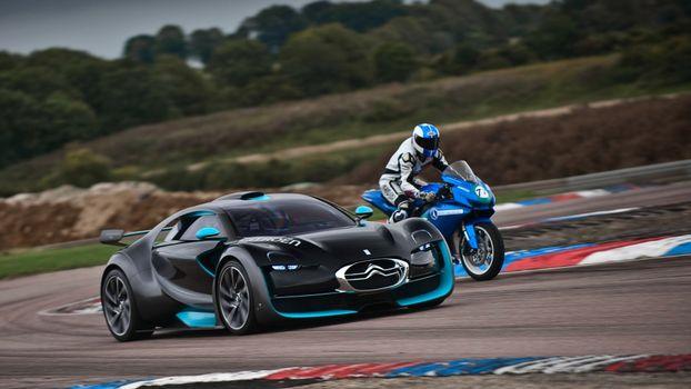 Photo free sports car, Citroen, against