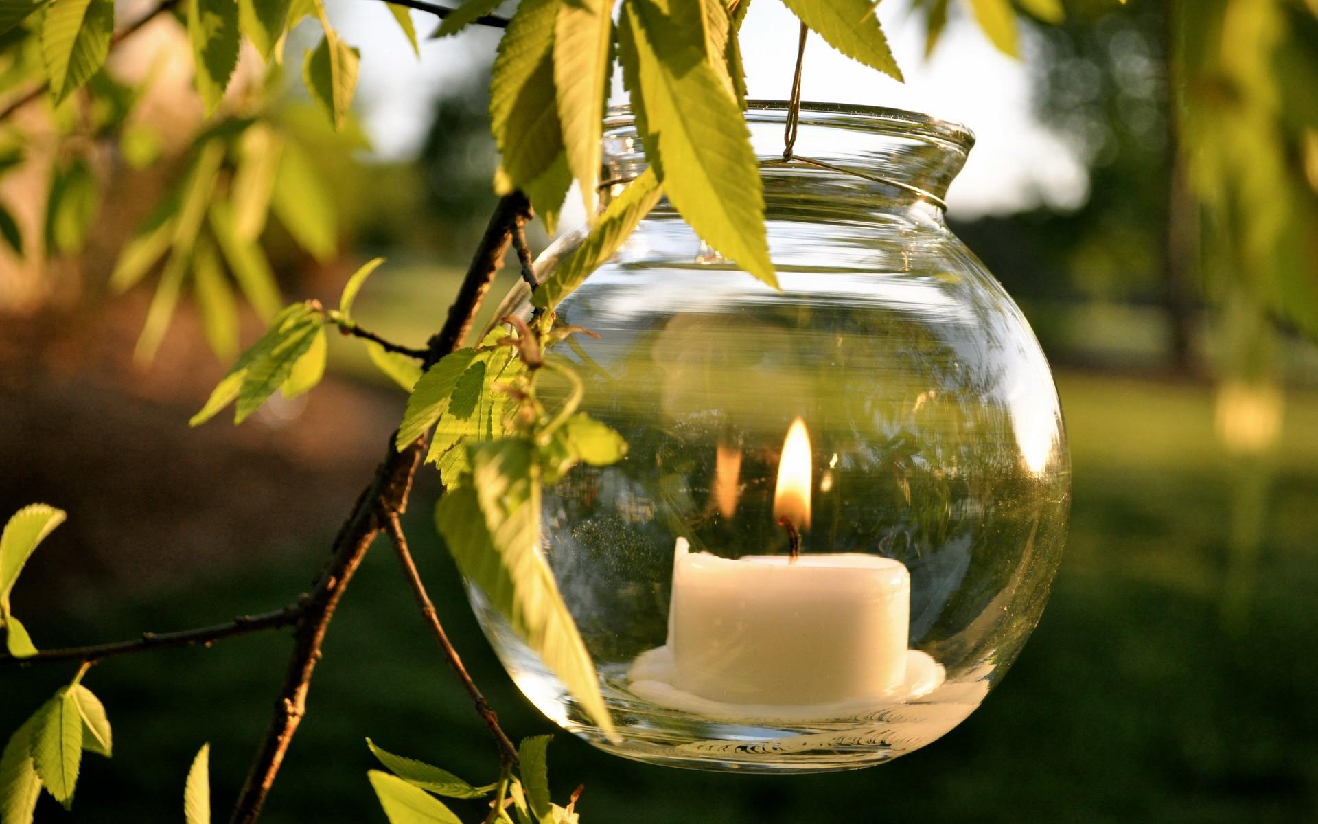 свечка, ваза, свет