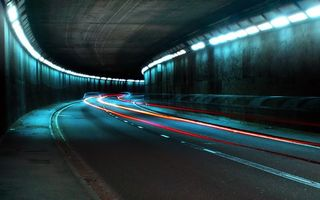 Фото бесплатно тоннель, освещение, автомобильная