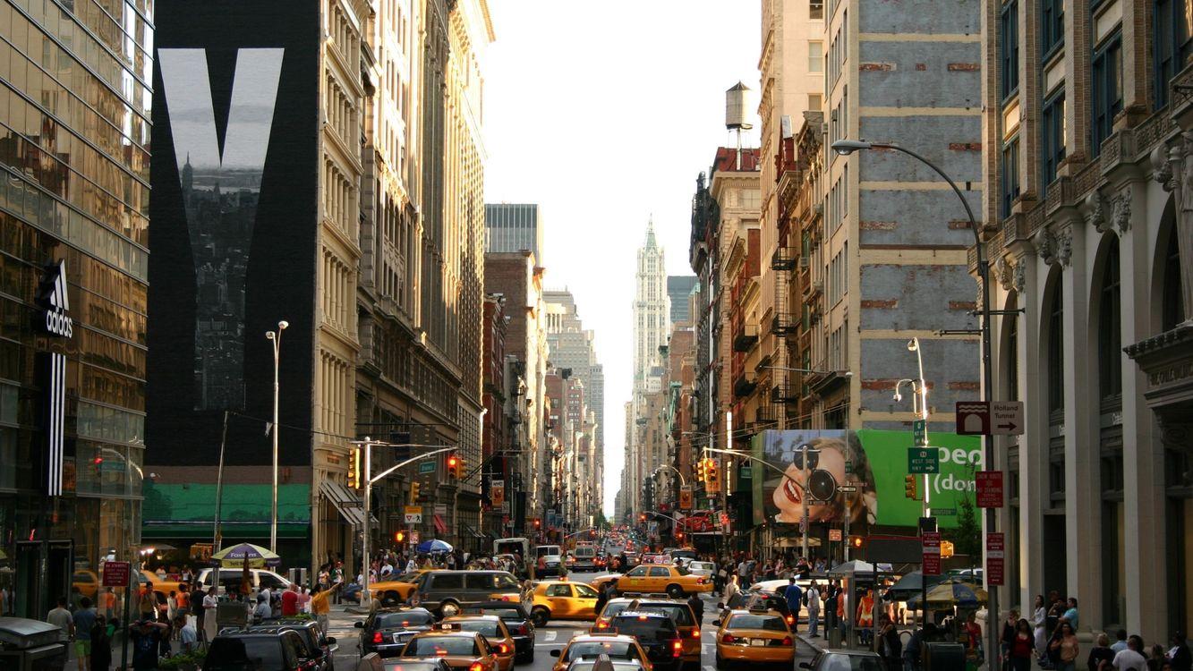 Фото бесплатно многие, автомобили, город - на рабочий стол