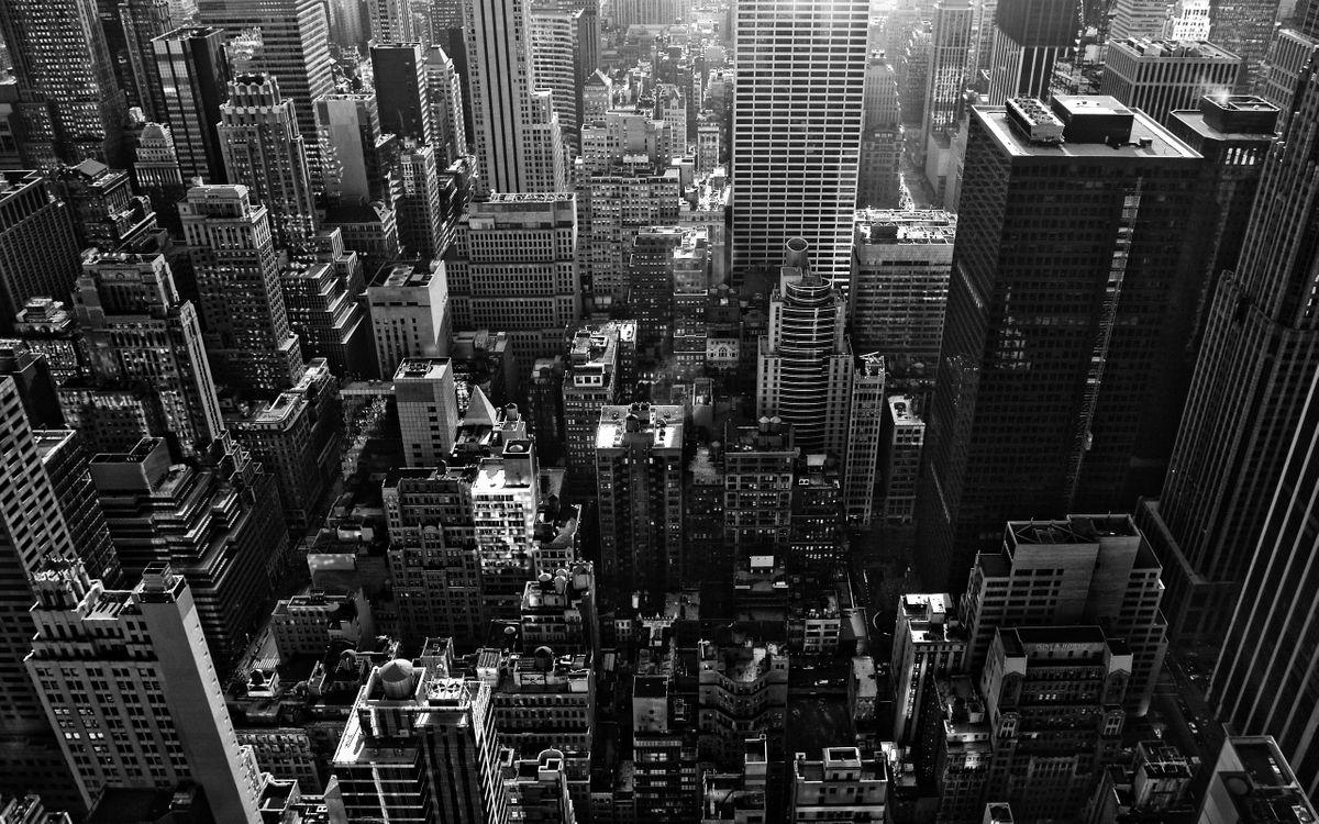 Фото бесплатно здания, улицы, крыши, город, окна, черно-белый, разное
