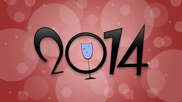 Бесплатные фото 2014,надпись,цыфры,бокал,вектор,круги,новый год