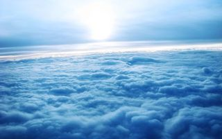 Photo free clouds, view, from an airplane