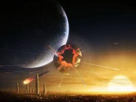 Бесплатные фото космос,астеройд,планеты,разрушения