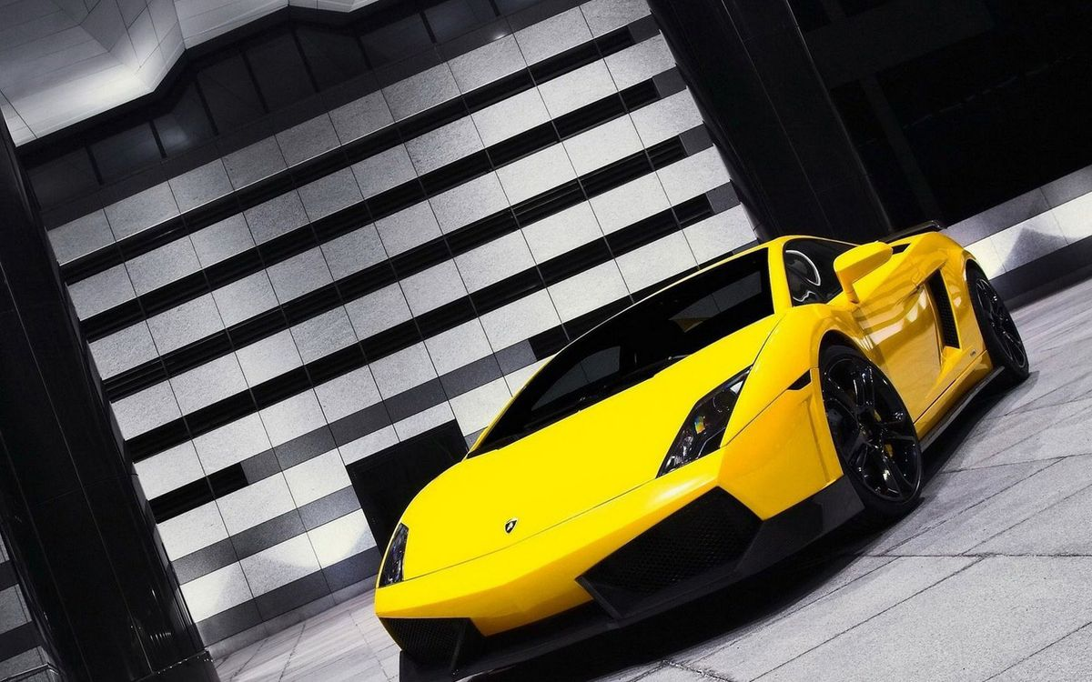 Фото бесплатно авто, желтый, стена - на рабочий стол